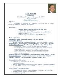 cv pharmacy fady pharmacist resume