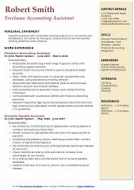 Accounting Assistant Resume Samples Qwikresume