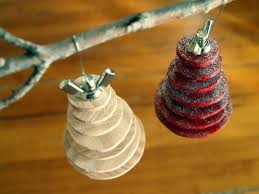 make your own diy industrial christmas tree ornament sawdust and embryos