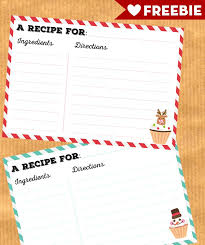 Christmas Recipe Card Free Printable Christmas Recipe Cards Lovely Planner