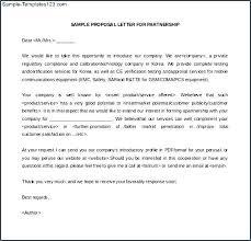 Sample Of Proposal Letters 15 Inspirational Sample Business Proposal Letter For Partnership