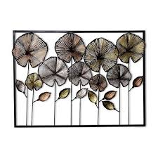 inhouse colorful flowers in frame metal