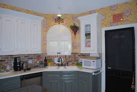 Wallpaper For Kitchen Cabinets Cabinet Painting Kit Grey Best Home Furniture Decoration