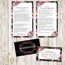 Senegence Business Card Template Valid Black Burgundy Floral Boho
