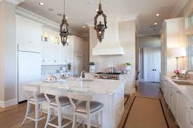 tara shaw lighting. The All-white Kitchen Exudes A Fresh, Clean Aesthetic. Homeowners Selected Honed Tara Shaw Lighting O