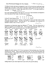 What Is A Progression Chart Jazz Chord Charts For Ukulele