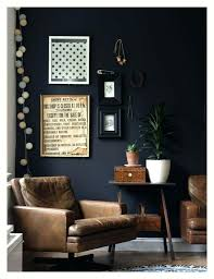 gray wall brown furniture. Living Room Furniture With Grey Walls Black Dark Worn Leather Chair An Summer Gray Wall Brown