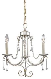 3 light chandelier in antique silver finish