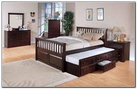 queen size trundle bed drawers