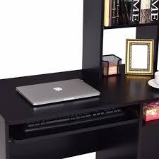 office furniture shelves. Giantex Modern Computer Desk Workstation Organizer Hutch Storage Shelves Keyboard Tray Black Home Office Furniture HW54809BK-in Laptop Desks From F