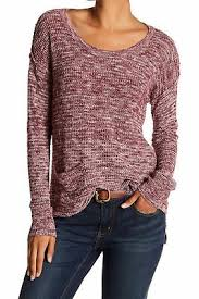 Susina New Heather Red Womens Size 1x Plus Pullover Hatchi