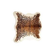 faux el paso leopard 4 25 ft x 5 ft cowhide rug