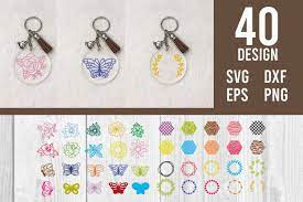 Set of 25 png clip art files, digital download. Acrylic Keychain Pattern Background Svg Graphic By Dadan Pm Creative Fabrica