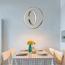 home accent lighting round rotating halo led chandelier brushed aluminum 2 ring concentric led pendant light