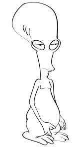 Small Picture Draw Roger the Alien from American Dad Step by Step Drawing