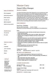 Dental office manager resume, example, sample, template, dentist, teeth, CV
