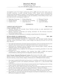 Gallery Of Financial Advisor Resume Examples