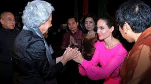 angelina jolie on politics and a difficult year news hollywood star angelina jolie pays respect to n former queen monique as n king norodom sihamoni