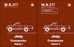 1986 jeep c che wiring diagram set nos 1986 1988 jeep c che repair shop manual set reprint m r 277
