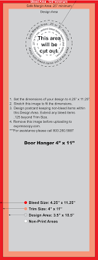 Door Hanger Design Template Door Hanger Print Specifications Expresscopy 8