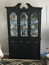 vintage paint and more updating a china cabinet with black chalkboard paint to