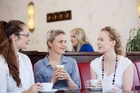 drinking coffee with friends. Modren Friends Three Friends Drinking Coffee In A Cafe U2014 Stock Photo For Drinking Coffee With Friends F