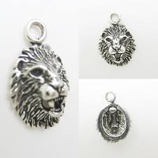 lion s head tiny 925 sterling silver charm