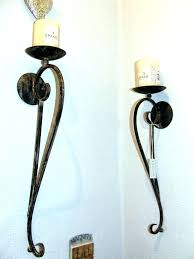 iron candle sconce electric pillar candle wall sconce curved black wrought iron candle sconces for creating romantic nuance on your home scroll pillar