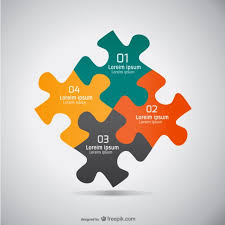 Jigsaw Flat Design Graphic Vector Free Download