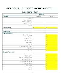 Monthly Living Expenses Template