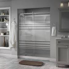semi frameless contemporary style sliding shower