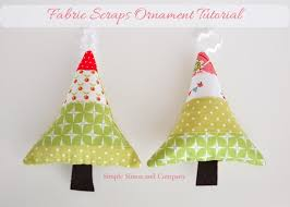 Fabric Scraps Christmas Ornaments  So Sew EasyEasy Christmas Crafts To Sew