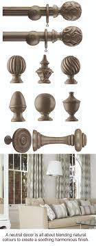 neutral wooden curtain poles these fabulous wooden poles are available in various neutral colours