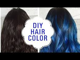 how to color your hair diy blue hair