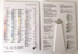 Swarovski 2018 Colour Chart Beads