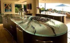glass countertop kitchen stain proof heat resistant