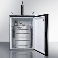summit kegerator under counter single tap black door
