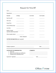 Time Off Request Form Template Word 1506