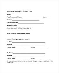 Free 33 Emergency Contact Form Templates In Pdf Word