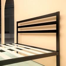 metal platform bed frame. Steel 1500H Platform Bed Frame - Headboard Metal E
