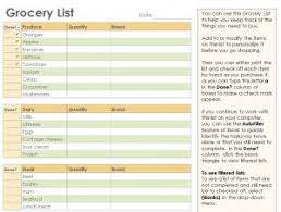 grocery checklist template grocery checklist grocery list template