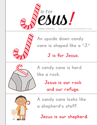 Small Picture J is for Jesus Candy Cane Printables