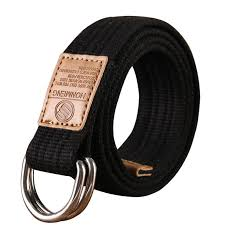<b>New Unisex canvas belt</b> Double ring buckle military belt Army belts ...