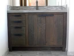 Barnwood Bathroom Nice Reclaimed Wood Bathroom Vanity On Reclaimed Barn Wood