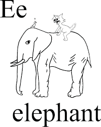 Free Baby Elephant Coloring Pages Cartoon Elephant Coloring Pages