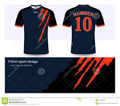 T Shirt Design Maker Free Download Soccer Jersey And T Shirt Sports Design Template Stock