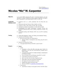 Carpenter Resume Objective Resume Cv Cover Letter