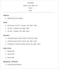 Simple Resume Samples 12 Basic Template Word Techtrontechnologies Com