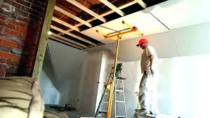 cost to install drywall ceiling installing on ceiling hanging on the ceiling how to hang on