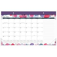 Academic Calendar 2020 17 Template At A Glance 2018 2019 Academic Year Desk Pad Calendar Compact 17 3 4 X 10 7 8 Midnight Rose D1101 705a